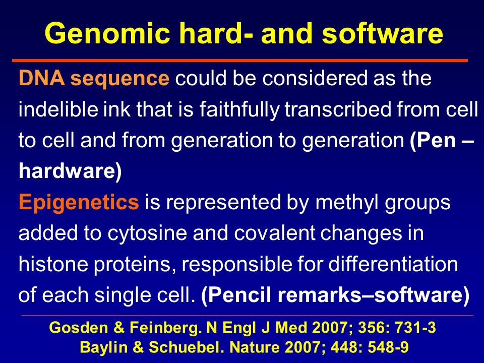 Genomic hard- and software