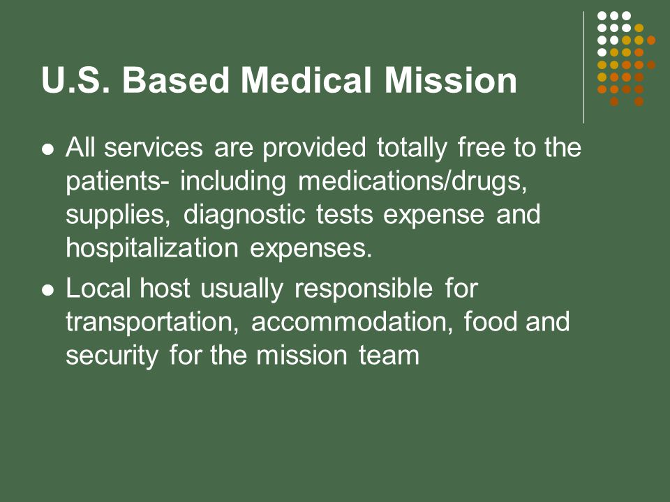 U.S. Based Medical Mission