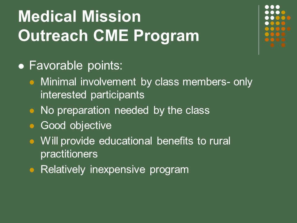Medical Mission Outreach CME Program