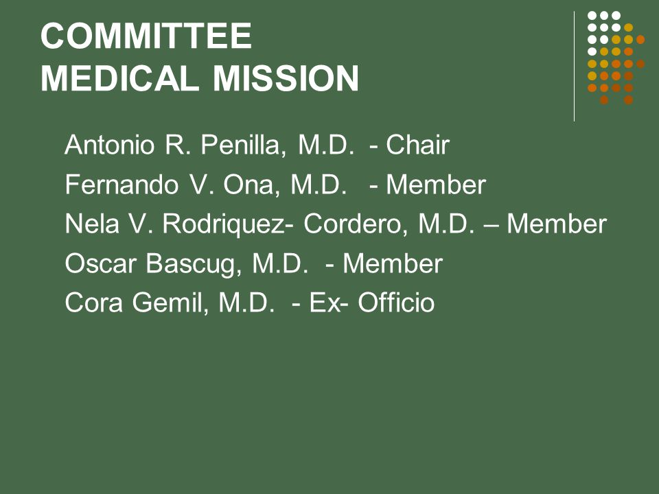 COMMITTEE MEDICAL MISSION