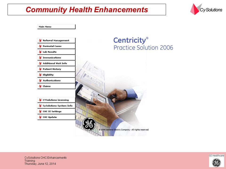 Community Health Enhancements