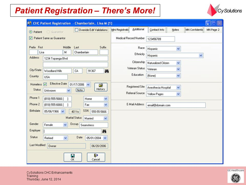 Patient Registration – There's More!