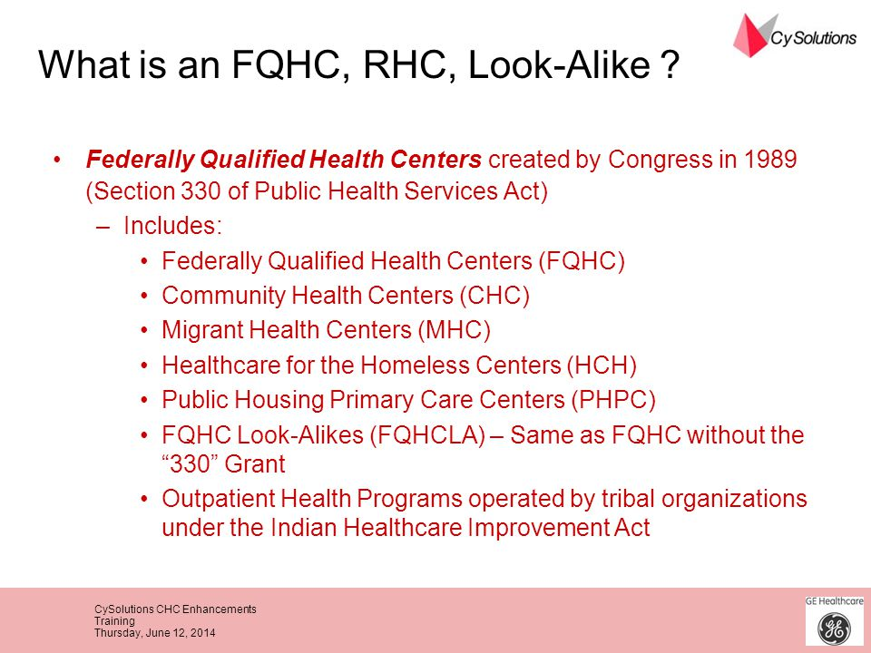 What is an FQHC, RHC, Look-Alike
