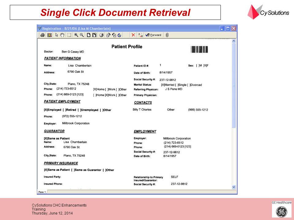 Single Click Document Retrieval