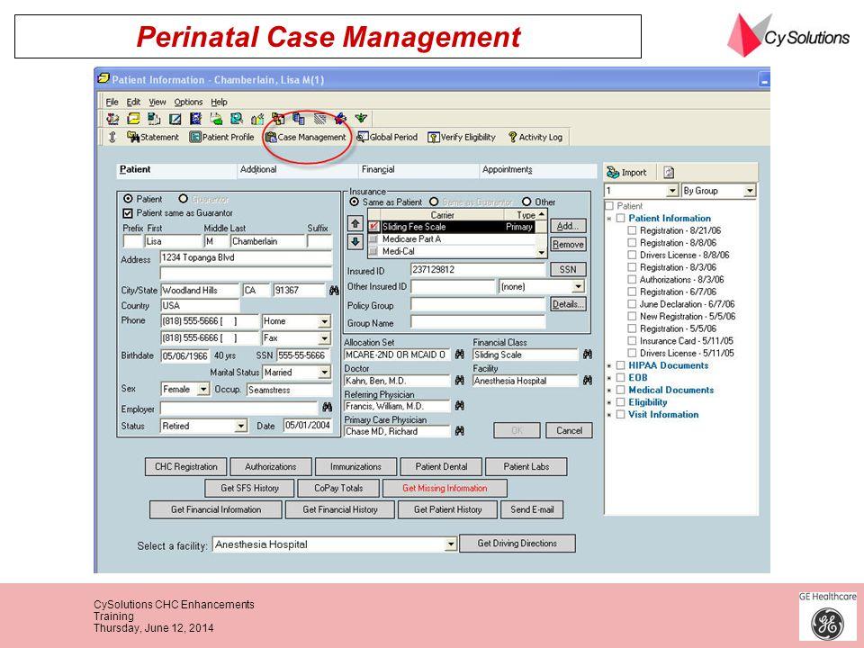 Perinatal Case Management