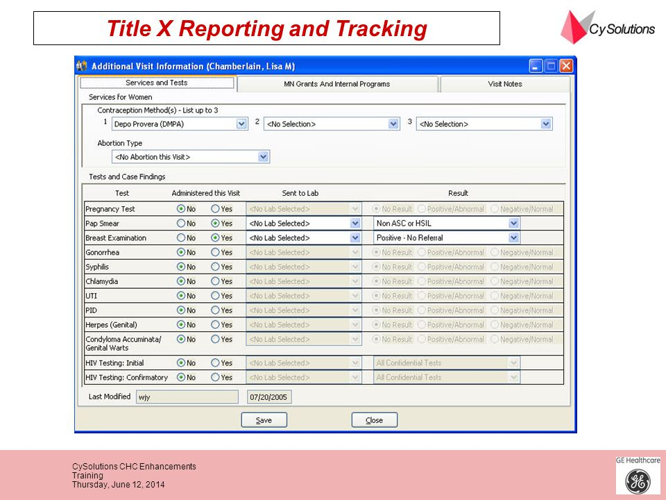Title X Reporting and Tracking