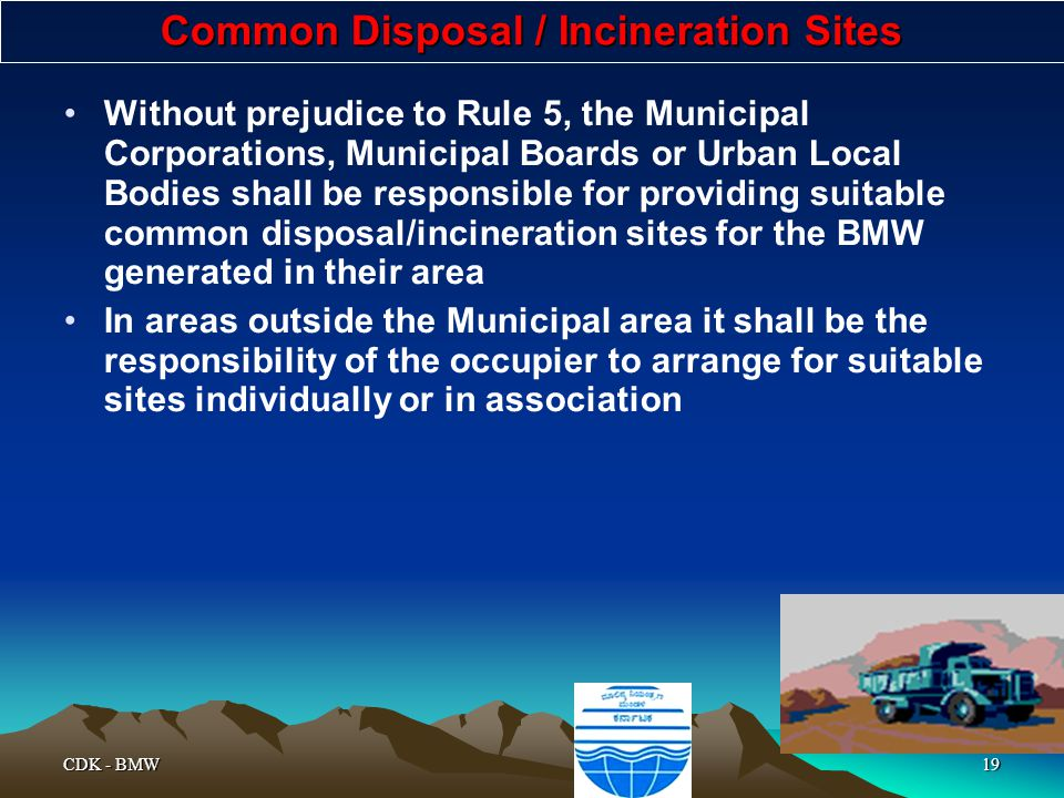 Common Disposal / Incineration Sites