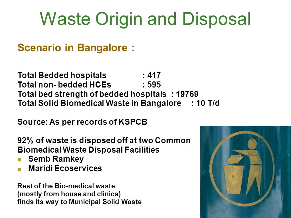 Waste Origin and Disposal
