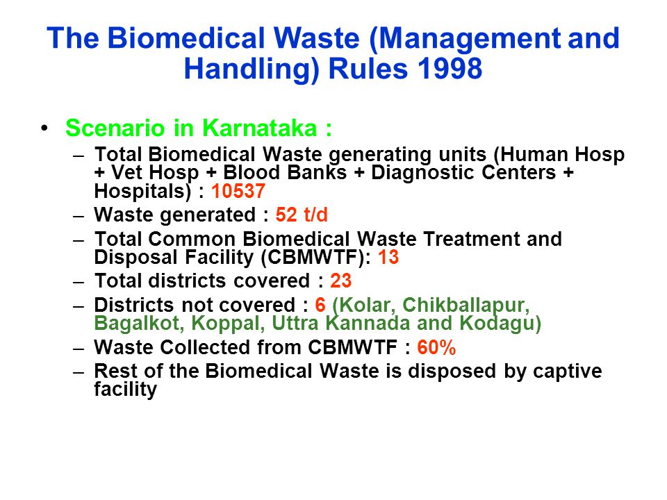 The Biomedical Waste (Management and Handling) Rules 1998
