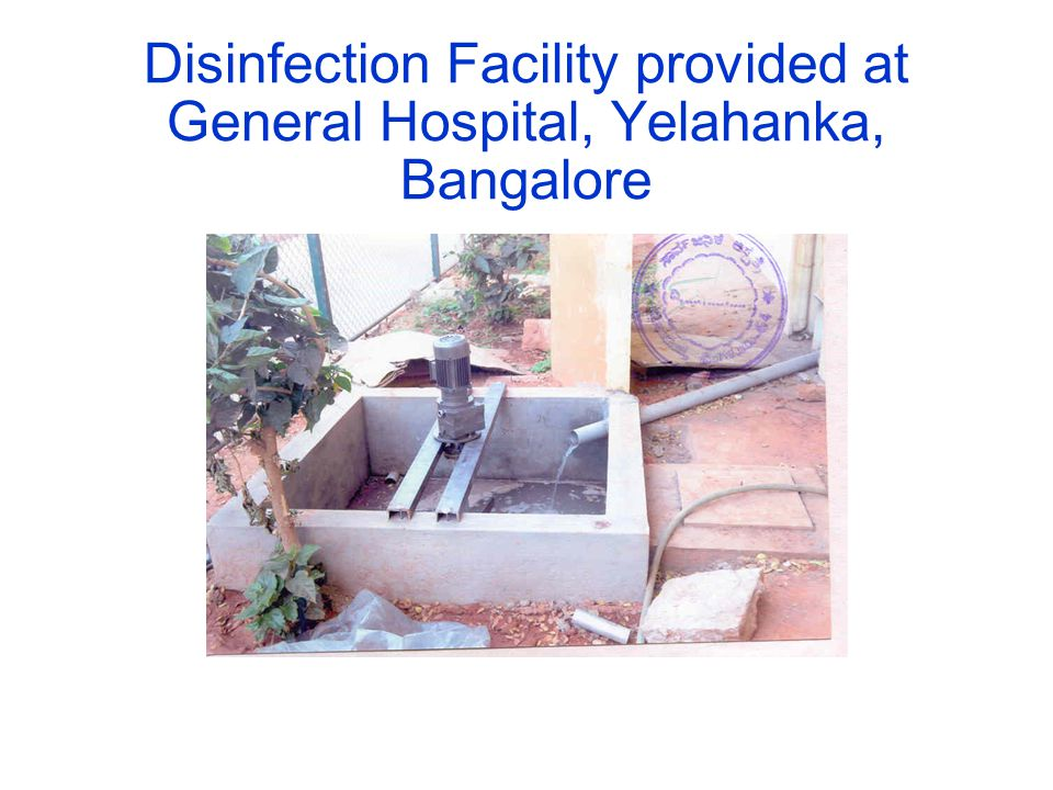 Disinfection Facility provided at General Hospital, Yelahanka, Bangalore