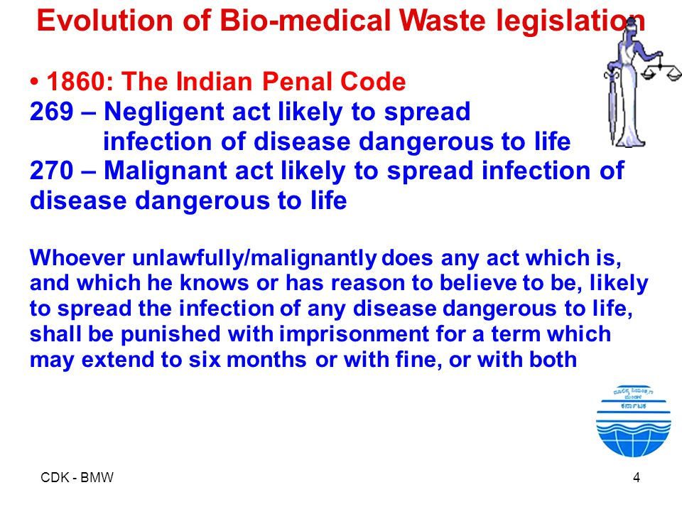 Evolution of Bio-medical Waste legislation