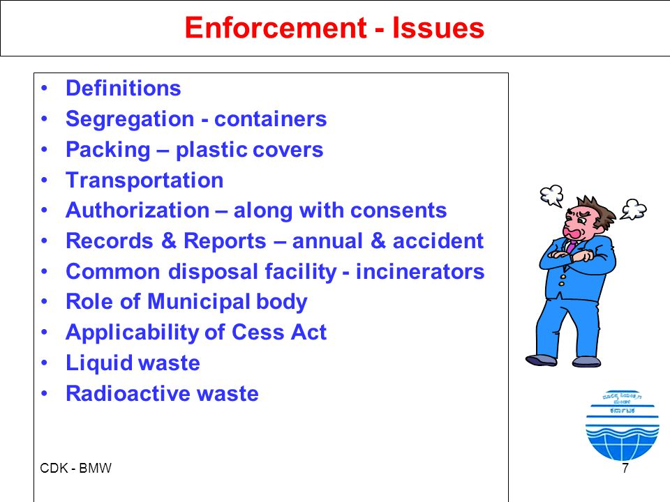 Enforcement - Issues Definitions Segregation - containers