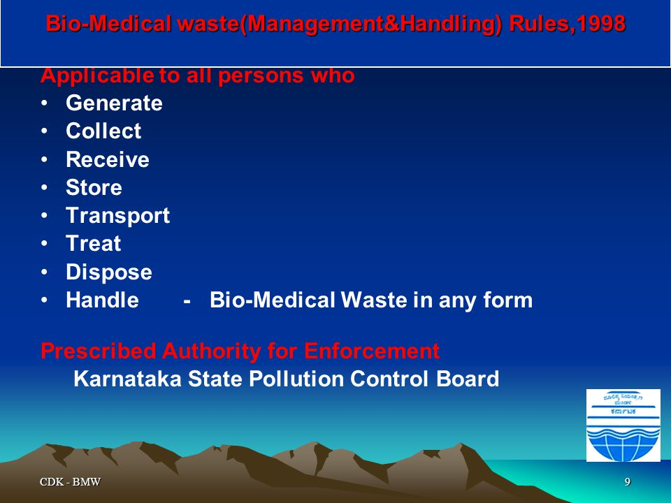 Bio-Medical waste(Management&Handling) Rules,1998