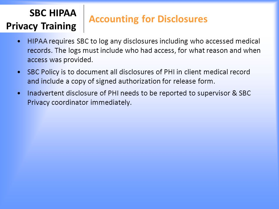 Accounting for Disclosures