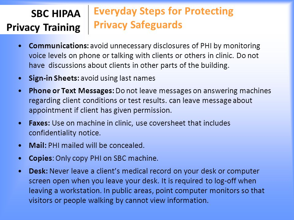 Everyday Steps for Protecting Privacy Safeguards
