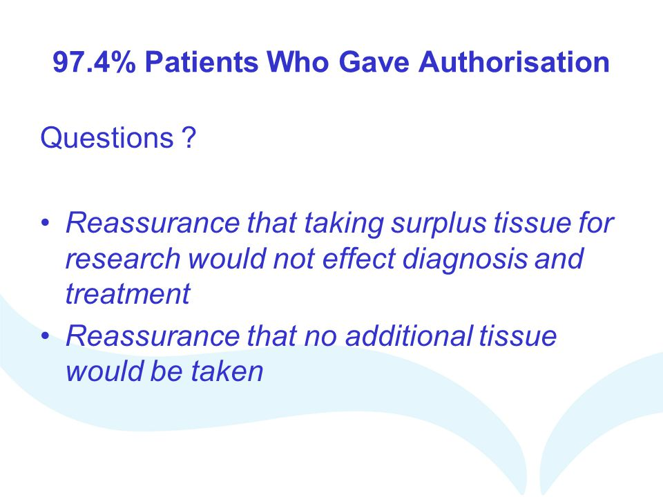 97.4% Patients Who Gave Authorisation