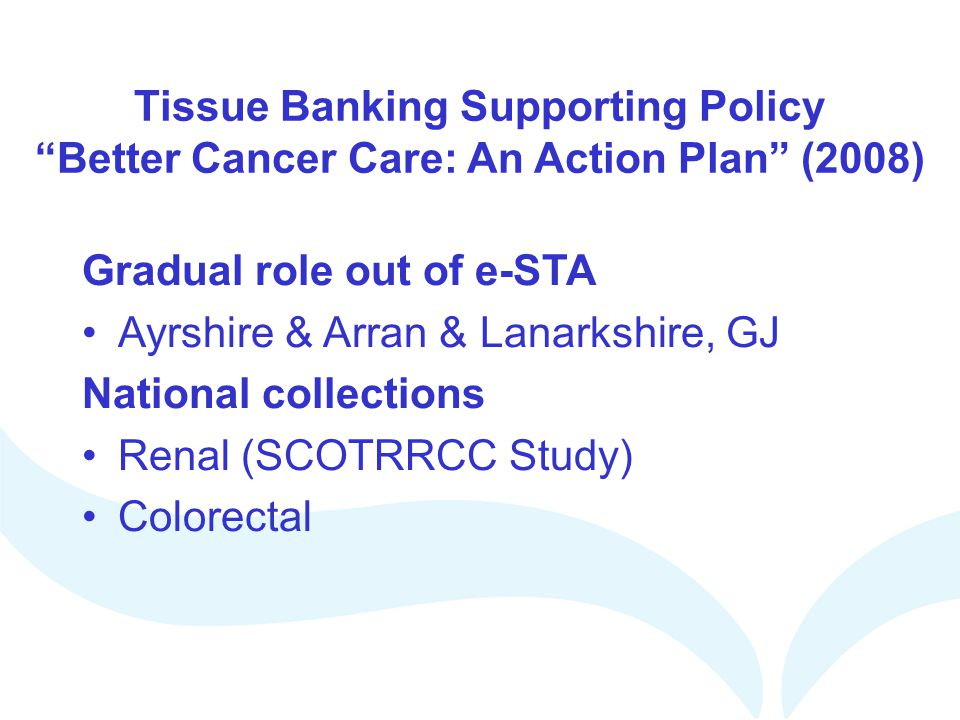 Tissue Banking Supporting Policy