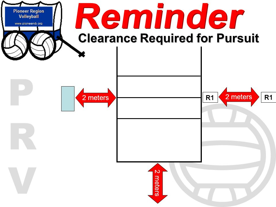 Reminder Clearance Required for Pursuit