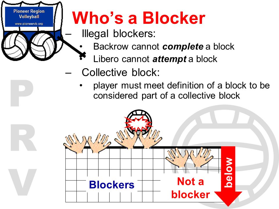Who's a Blocker Illegal blockers: Collective block: below