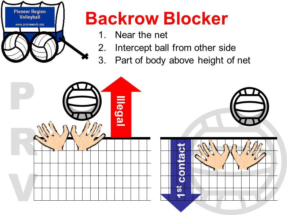 Backrow Blocker Illegal 1st contact Near the net