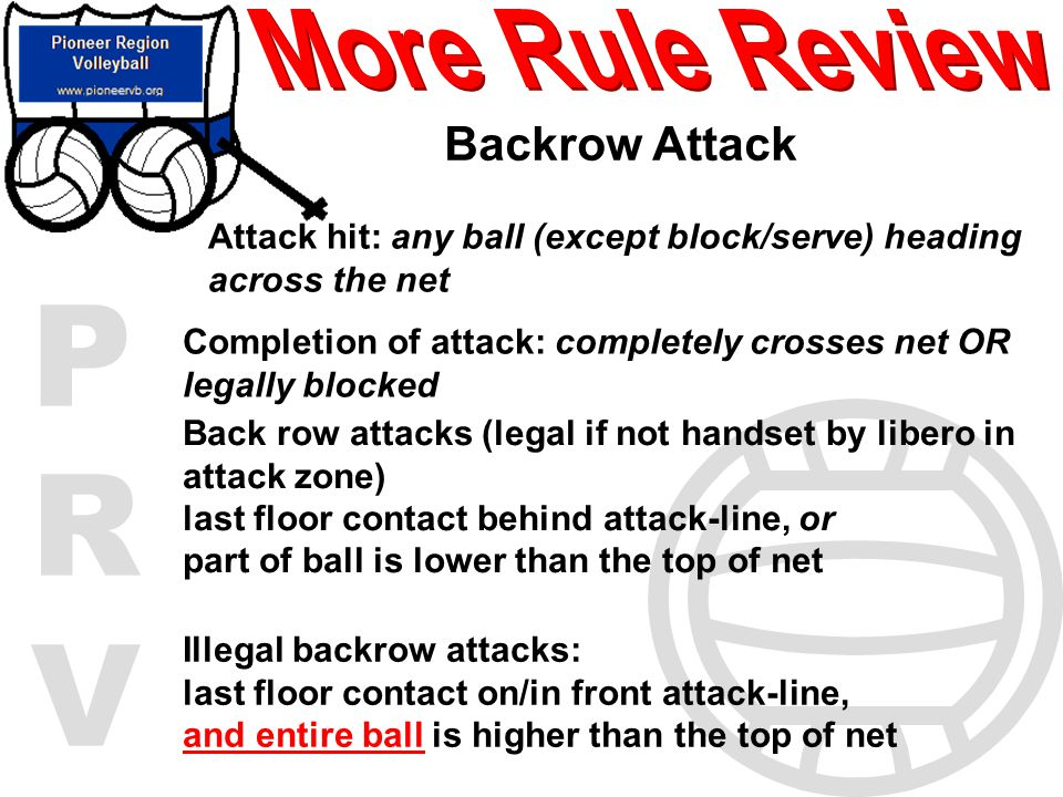 More Rule Review Backrow Attack