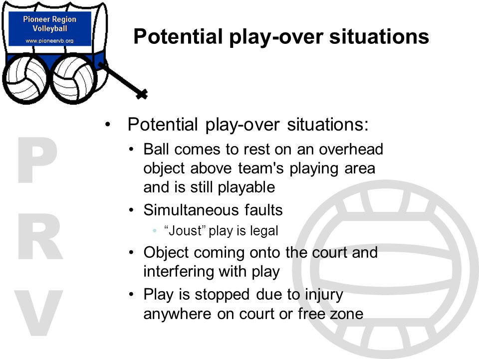Potential play-over situations