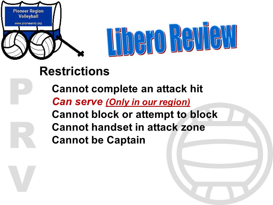 Libero Review Restrictions Cannot complete an attack hit