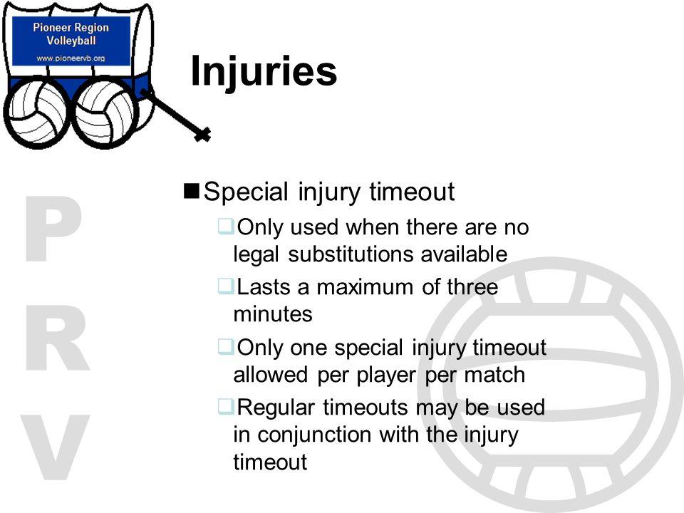 Injuries Special injury timeout