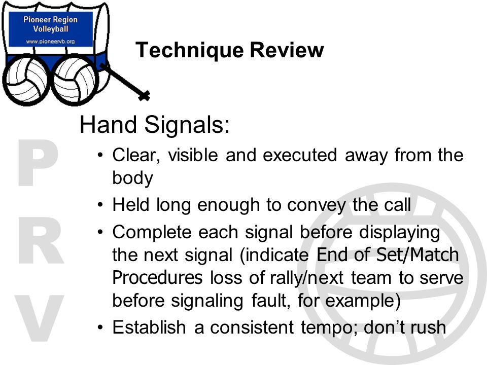 Hand Signals: Technique Review
