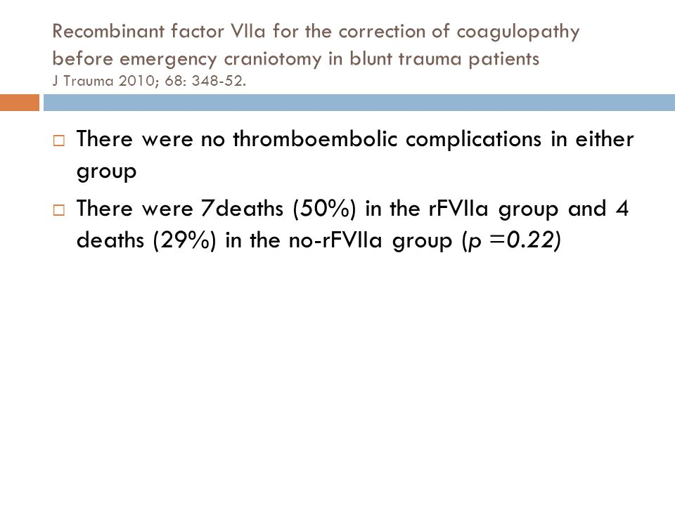 There were no thromboembolic complications in either group