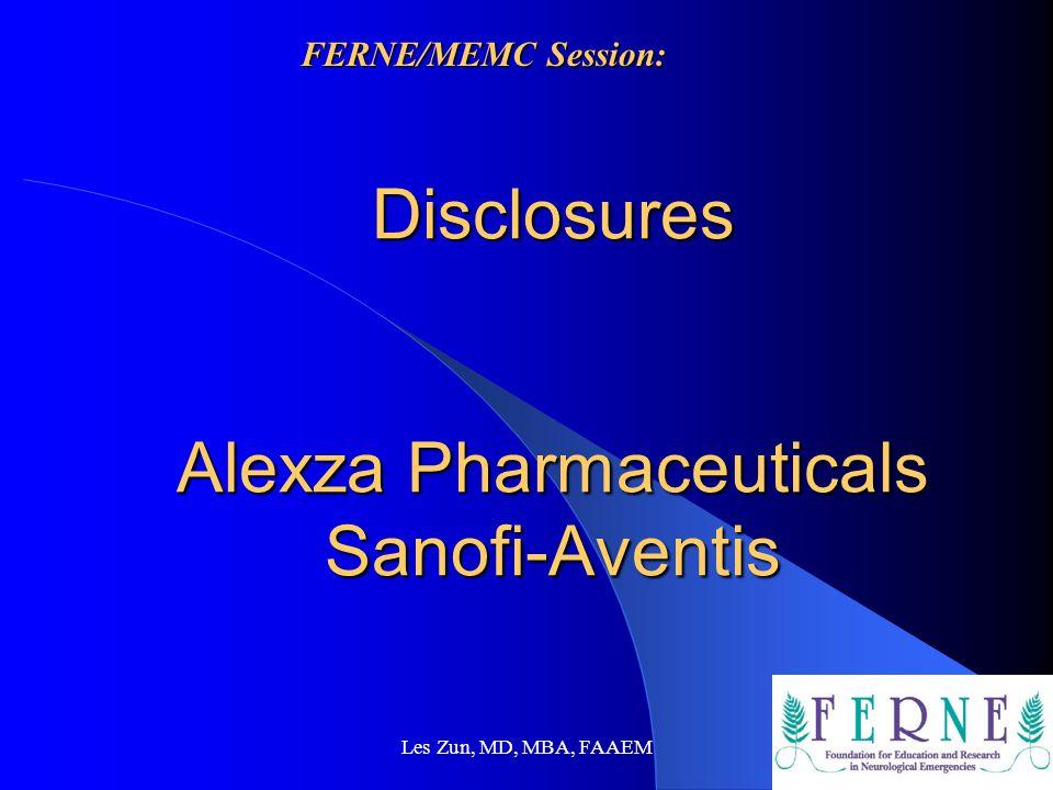 Disclosures Alexza Pharmaceuticals Sanofi-Aventis