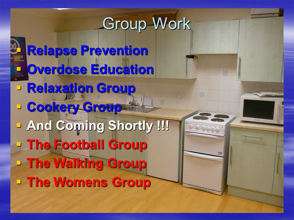 Group Work Relapse Prevention Overdose Education Relaxation Group