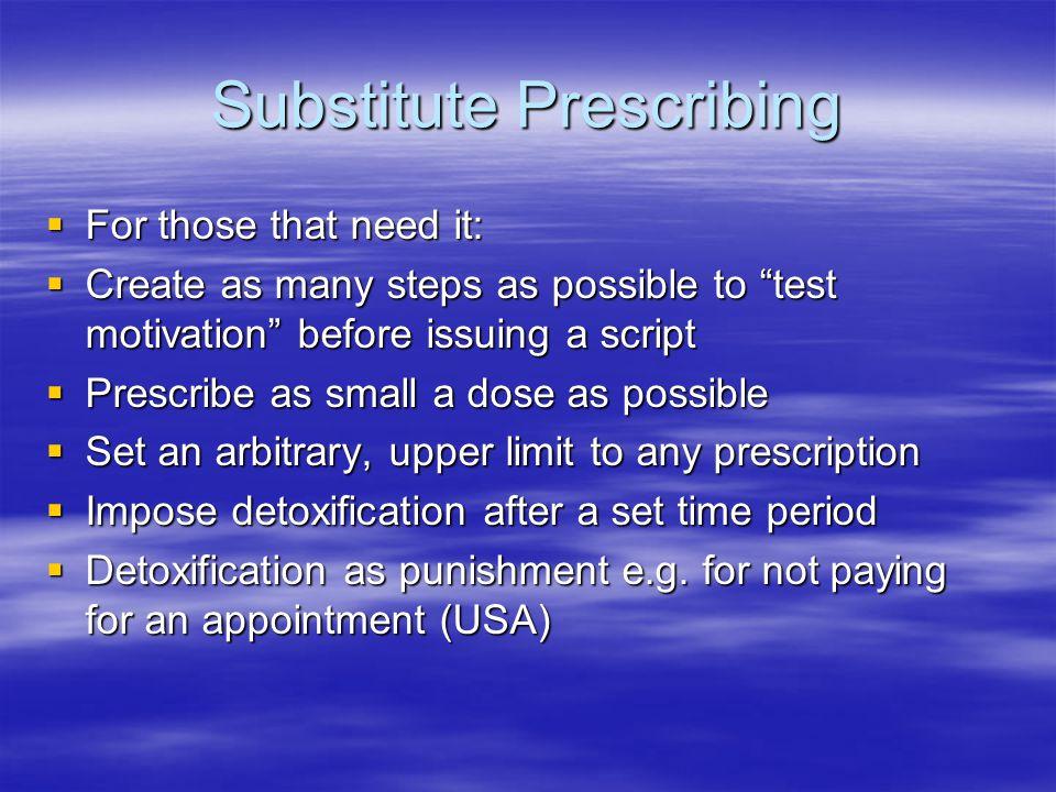 Substitute Prescribing