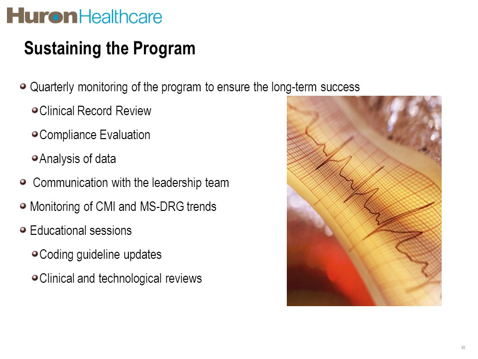 Sustaining the Program