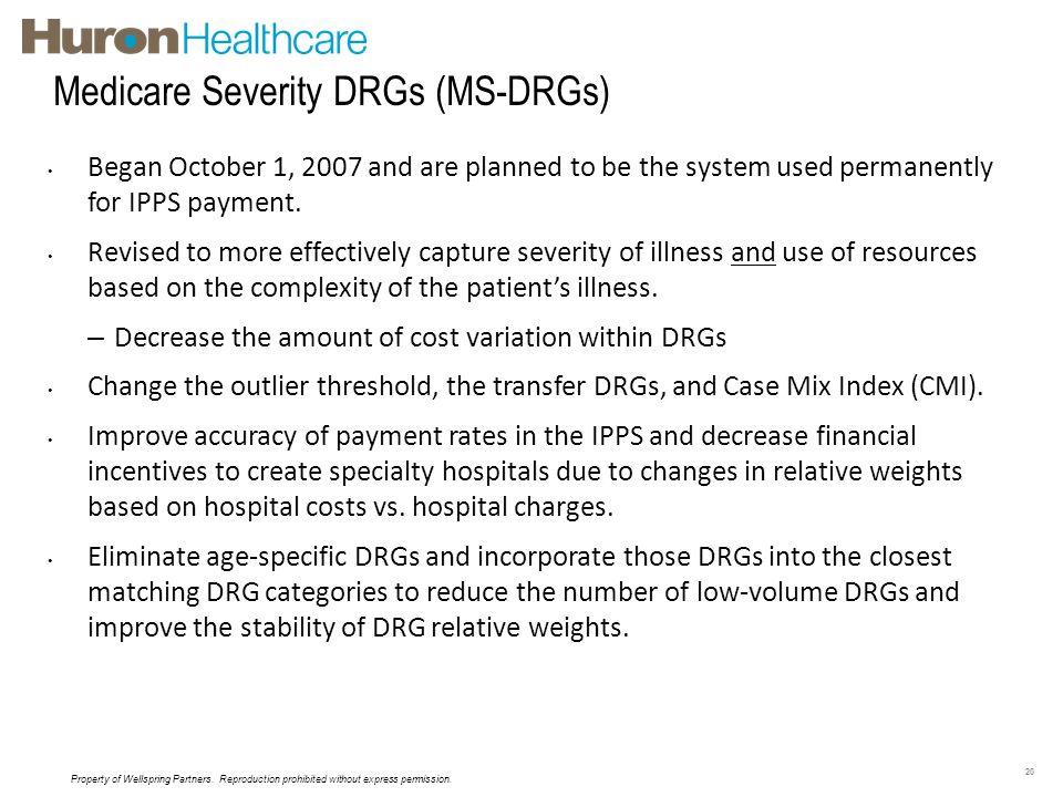 Medicare Severity DRGs (MS-DRGs)