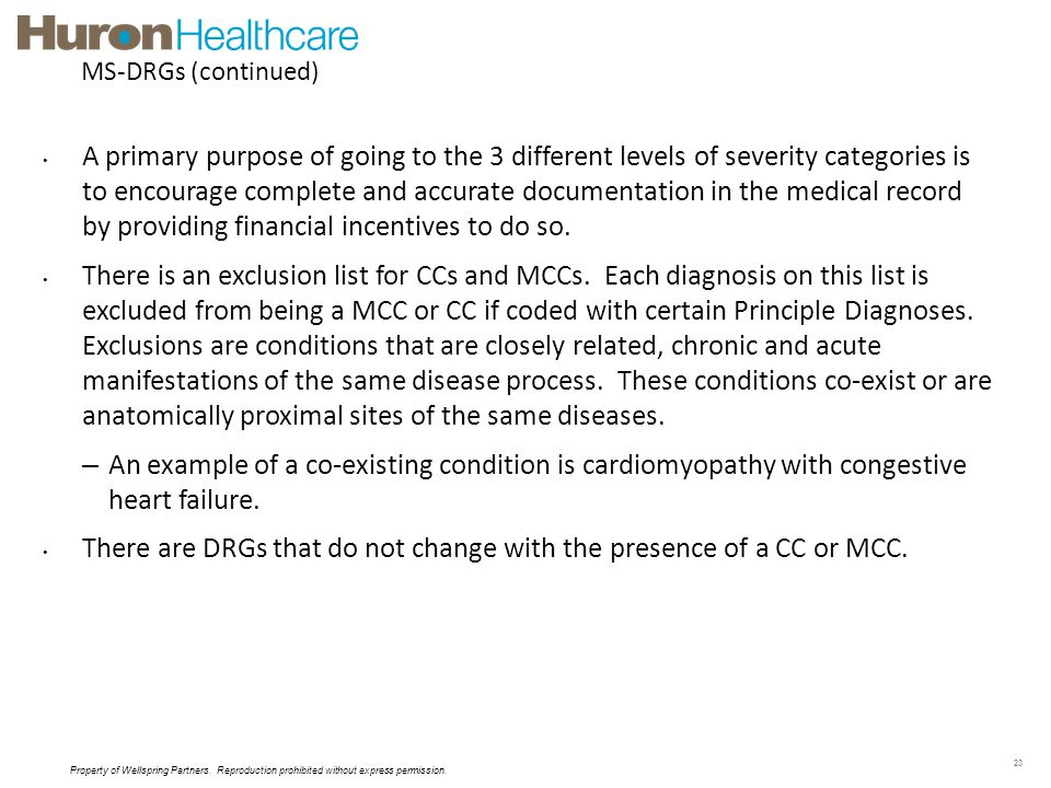 MS-DRGs (continued)