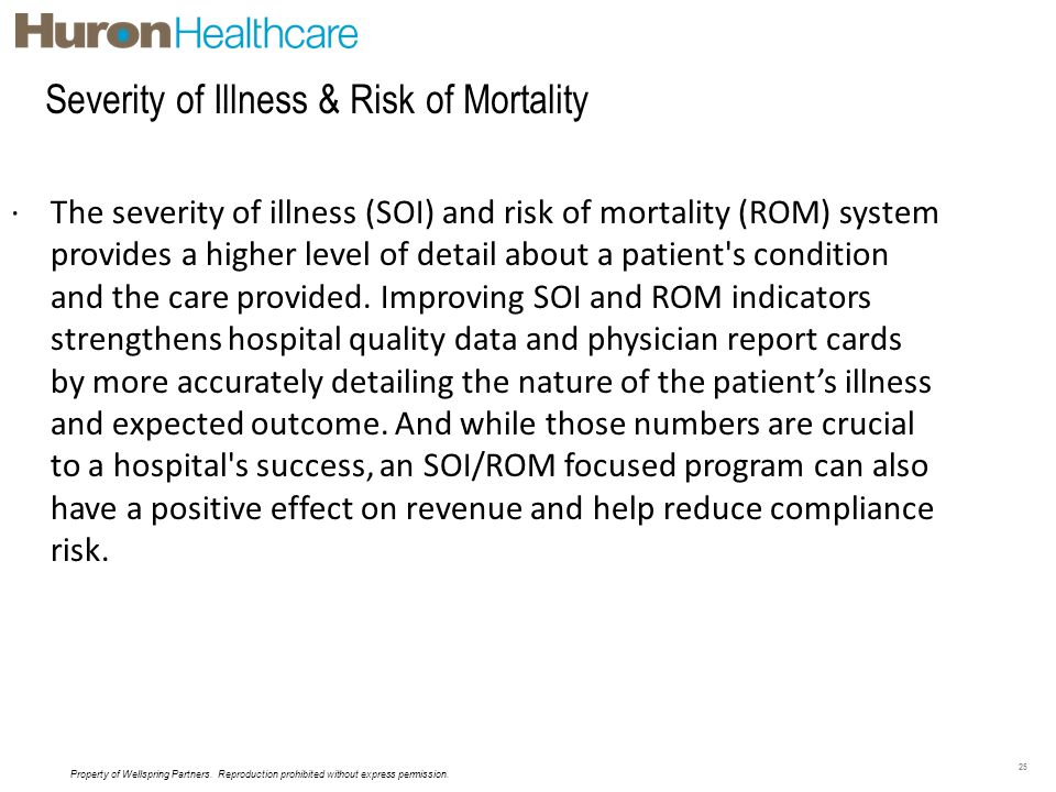 Severity of Illness & Risk of Mortality