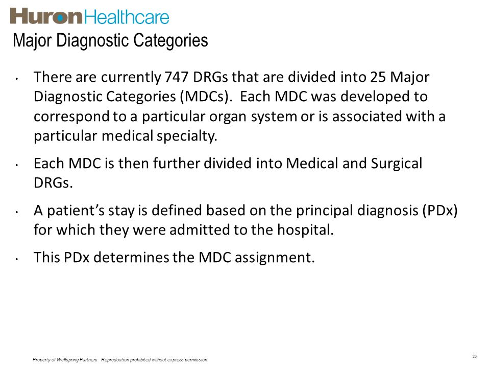 Major Diagnostic Categories