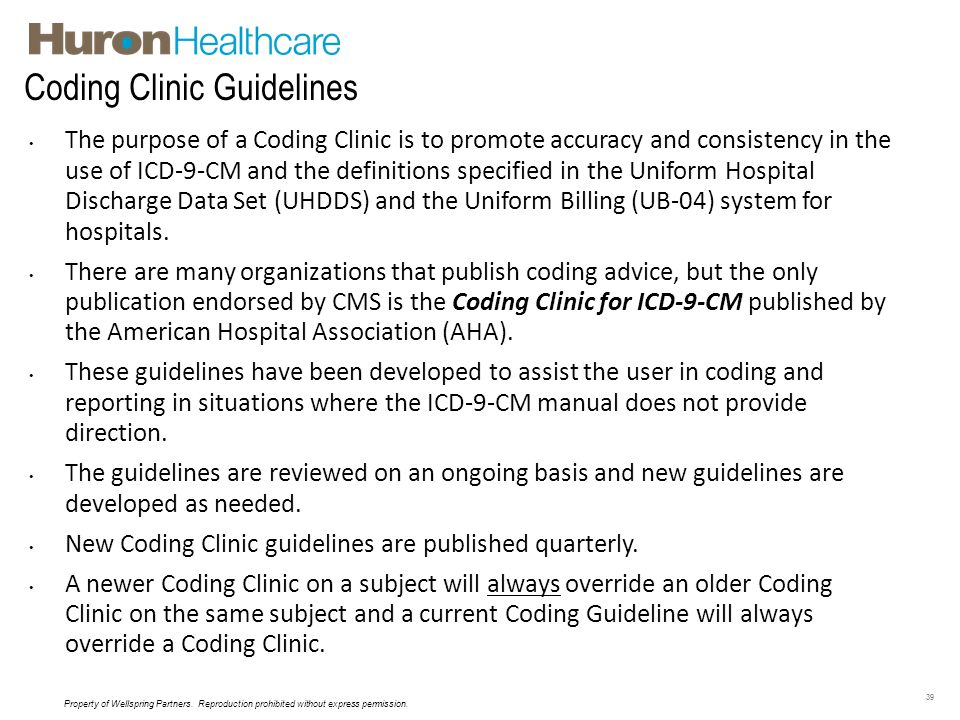 Coding Clinic Guidelines