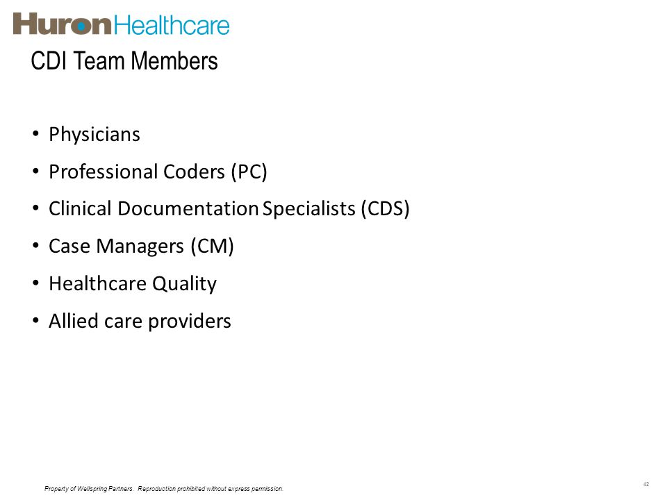 CDI Team Members Physicians Professional Coders (PC)
