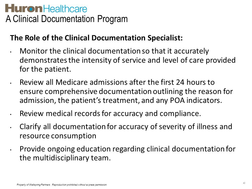 A Clinical Documentation Program