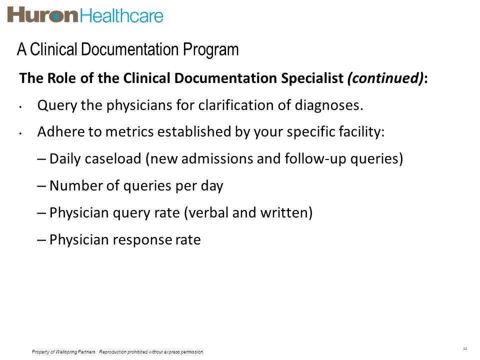 A Clinical Documentation Program