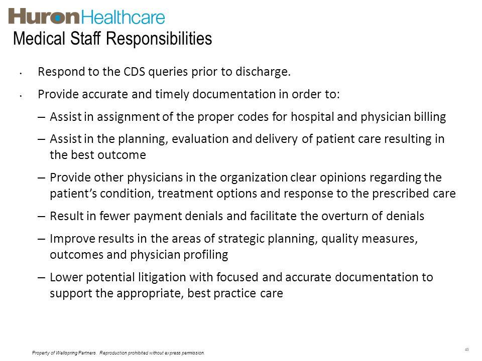 Medical Staff Responsibilities