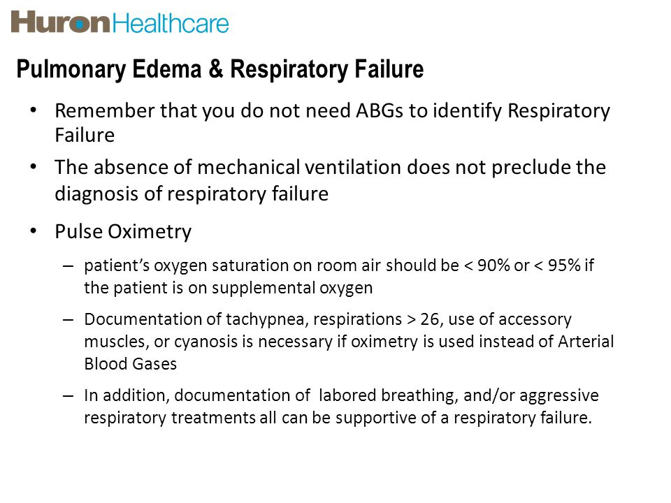 Pulmonary Edema & Respiratory Failure