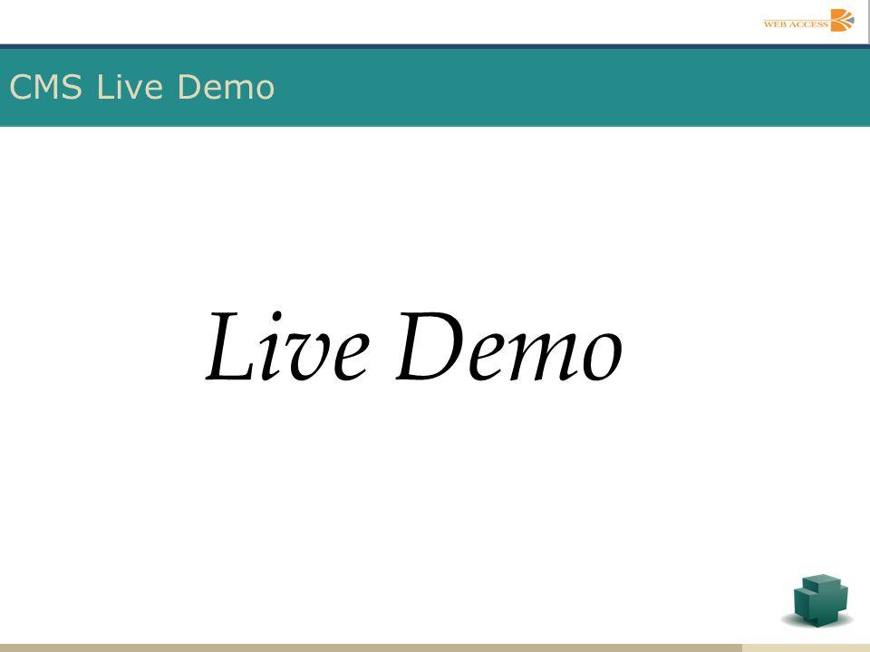 CMS Live Demo Live Demo