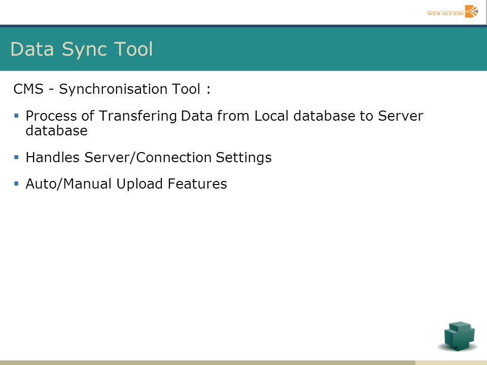 Data Sync Tool CMS - Synchronisation Tool :