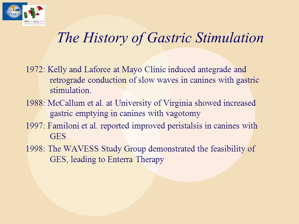 The History of Gastric Stimulation