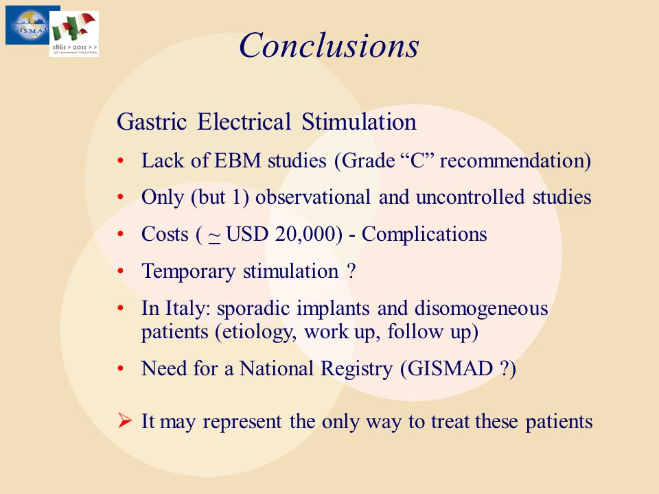 Conclusions Gastric Electrical Stimulation