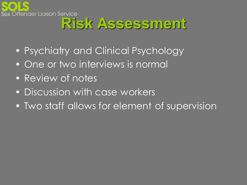Risk Assessment Psychiatry and Clinical Psychology
