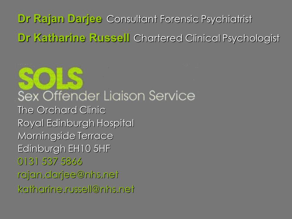 Dr Rajan Darjee Consultant Forensic Psychiatrist